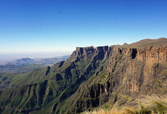 View From Top of the Amphitheater - Drakensberg Escarpment (Julia Kostecka) Tags: drakensbergmountains drakensbergescarpment geology rockformations sentinelpeaktrail tugelafalls chainladdertrail hiking amphitheater waterfall southafrica royalnatalnationalpark