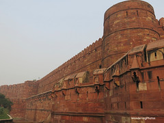 The Red Walls - Agra Fort - Agra Uttar Pradesh India (WanderingPhotosPJB) Tags: flickruploaded india uttarpradesh agra agrafort redfort sandstone img