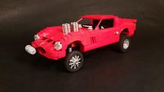 Ferrari  250 GTO Gasser (rabidnovaracer) Tags: ferrari gto 250 gasser race lego car lugnuts