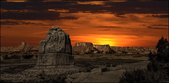 Moody Sunset (Color Blind 56) Tags: moody sunset rock sky utah sunrise orange yellow photomatix park archesnationalpark d7100 golden landscape cb1956 viewpoint nikon mountains wilderness wideangle red rugged natural desolate dark harsh elements13 art dramatic goldcollection