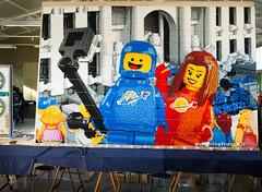 2017 LEGO mosaic: Benny @ Trevi fountain