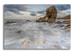 Rock Pool (Steven Peachey) Tags: seascape sky rock beach water clouds shotrock easington northeastcoast northeastengland northeast 2017 stevenpeachey lee09gnd ef1740mmf4l canon6d lightroom canon light exposure movement