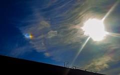 Left Side Parhelion (Sundog) & Iridescent Clouds 10am BST 27/04/17 (Spicey_Spiney) Tags: sundog parhelion iridescentclouds 22degreehalo