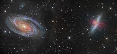 Mosaic of the M81 & m82 in Ursa Major. (www.moonrocksastro.com) Tags: galaxy astrophotography nebula stelle stars nebulosa astronomia astronomy astrofotografia takahashi fsq106 star astro astrodon fast cosmos dso deep space nebulosity nebulae sky skies universe textur texture cloud ngc pillars creation sxvrh18 eq6 skywatcher starlight xpress emission cepheus night hubble qhy5 phd baader deepspace moonrocks abstract surreal outdoor landscape waterfall swift vixen vsd cassiopeia soul monochrome black white lunar 7380 wizard narrowband gold paramount pixinsight neq6 refractor orion solar telescope observatory valencia m81 m82