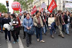 Arlette toujours là... (PASCAL.VAN) Tags: 1ermai2017 paris protest manifestation france lutte ouvrière lutteouvrière arlettelaguiller
