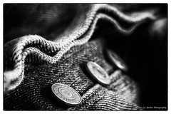 124/365 (Liz Barber) Tags: buttons levi jeans blackandwhite monochrome texture fly
