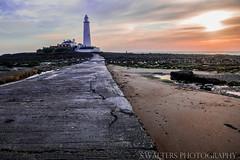 St Marys Lighthouse (sidrog28) Tags: lighthouse st marys sea sand path newcastle u uk nikon rocks
