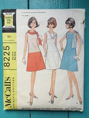 McCall's 8225 (kittee) Tags: kittee sewing vintagesewing pattern vintagepattern mccalls8225 mccalls 8225 1966 1960s dress lowwaisted tabs scarves scarf scarftabs sleeveless aline colorpiecing kitteemustmake shift size12 size14 bust32 bust34 multisized