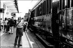 E' in partenza dal binario 1... (Francesca D'Agostino) Tags: trenoantico ancienttrain stazionetreni trainstation caserta campania bianconero blackwhite flickraward allegrisinasceosidiventa