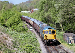 Class 33 At Froghall. (Neil Harvey 156) Tags: railway 33102 sophie froghall kingsleyfroghall churnetvalleyrailway class33 brblue railblue sulzertype3 crompton