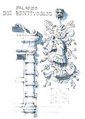 Ferrare, palazzo Ventivoglio (gerard michel) Tags: italia italy architecture renaissance palais sketch croquis aquarelle watercolour ferrara