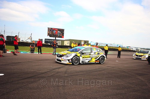Senna Proctor on the grid at the Thruxton BTCC weekend, May 2017