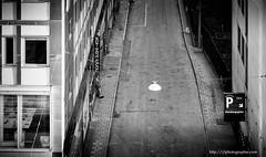 The break (ylemort) Tags: blackandwhite urbanscene architecture street builtstructure citylife city nopeople buildingexterior monochrome transportation outdoors old newyorkcity window vanishingpoint downtowndistrict travel diminishingperspective everypixel