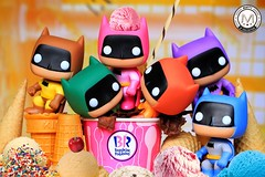 Beat the heat with FDO Sorbetes Batman ala mode 🍨🔆 (PrinceMatiyo) Tags: dc dccomics toyphotography icecream baskinrobbins popvinyl funko rainbow rainbowbatman batman