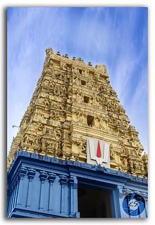 Simhachalam Hindu temple located in Visakhapatnam city suburb, India