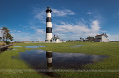 Bodie Light - reflections of spring (betty wiley) Tags: bodie lighthouse reflections outerbanks northcarolina puddles obx light bettywileyphotography rain