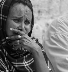 Sometime we experience a deep pain in the midst of our most joyful moments… (ybiberman) Tags: israel jerusalem alquds christianquarter churchoftheholysepulchre easter woman pilgrim portrait pain veil rings candid streetphotography