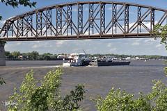 Big Four Bridge, Louisville, Kentucky (Troy Strane) Tags: bridge railroadbridge bigfour jeffersonville louisville indiana kentucky ohioriver abandoned walkway trail pedestrian nikon d810 barge