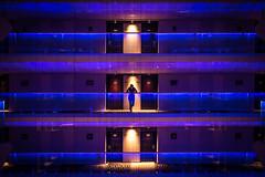 Radisson Blu - Bucharest, Romania - Travel photography (Giuseppe Milo (www.pixael.com)) Tags: travelling romania bucharest blu travel experiencebucharest woman violet architecture radisson girl simmetry simmetrical hotel bucurești municipiulbucurești ro onsale faceless