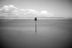 Beacon (James-Crawshaw) Tags: rye harbour ryeharbour longexposure nd neutraldensity fuji x100 blackandwhite bnw mono monochrome