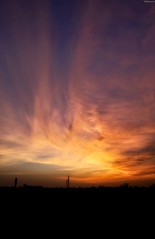 ..when clouds erupt in flames.. (vjsankar) Tags: sunset dusk clouds sky colours canon 6d canon6d trivandrum kerala