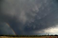 Mammatus and rainbow (matt.clark25) Tags: storm thunderstorm mammatus mamma rainbow texas texaspanhandle plains gusty gust hail