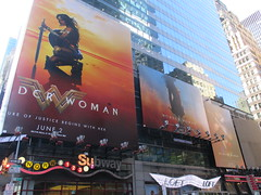 Wonder Woman 42nd Street Billboard DC Comics 5577 (Brechtbug) Tags: wonder woman battle armor times square billboard theater posters 42nd st 7th ave broadway nyc 05082017 movie billboards new york city work working worker paint painting advertisement dc comic comics hero superhero krypton alien dark knight bat adventure book character shield s insignia red blue man for may 2017 sword brunette amazon paradise island mythology myth mythological batman superman jla not linda carter