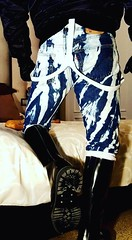 Skin Shiny Boots Bleachers white braces (collaredinboots1) Tags: skinhead bleachers braces boots booted rangerboots