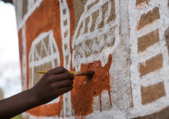 Man painting the wall of a traditional ethiopian house, Kembata, Alaba Kuito, Ethiopia (Eric Lafforgue) Tags: abyssinia africa alaba architecture art artist artwork building color culture day decorated decoration depiction eastafrica ethiopia ethnic geometric halaba horizontal hornofafrica house housing hut illustration kulito mural naive oneperson outdoors painted painter painting people poverty residential ruralscene skill toukoul traditional tukul village work working ethio163440 alabakuito kembata