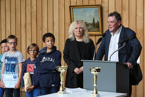Remise des prix du tournoi de Foot pour Tous en présence d'Alain Baudin, adjoint du maire aux sports © Olivier Drilhon