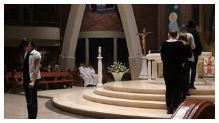 04.03.2011 - Pantomima ewangelizacyjna podczas Mszy Św. - Tychy
