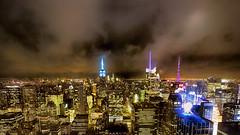 NY Manhattan II (stega60) Tags: newyork manhattan skyline night lights empirestatebuilding oneworldtradecenter liberty nightview hdr panorama stiched stega60