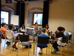 Visita de la escritora Irati Bediaga al club de lectura juvenil.