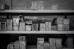 Boxed in.... (Taken-By-Me) Tags: abandoned adventure takenbyme boxes box shelves building closed centre corridor derelict decay dark d750 explore exploring empty forgotten factory gone industrial left nikon neglect north shut urbex urban ue uk black blackandwhite white