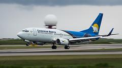 C-GICN - Canadian North - Boeing 737-36Q (bcavpics) Tags: cgicn canadiannorth boeing 737 733 aviation aircraft airliner airplane plane yvr vancouver britishcolumbia canada bcpics