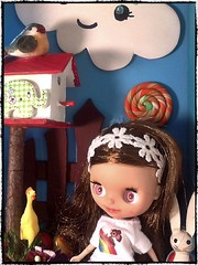 Toy-in-the-Frame Thursday; and Blythe-a-Day# 17 Wubba Wednesday: Frolicking with Mr. Wubba