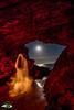 LA GUARIDA (Fran Ramos.) Tags: light painting naturaleza nocturnas noche luna playa cartagena calblanque frascoramos luces