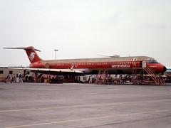 XA-AMJ McDonnell Douglas MD-82 of Aeromexico at Long Beach, CA in Oct 1981 (johnyates2011) Tags: xaamj md82 mcdonnelldouglasmd82 mcdonnelldouglas aeromexico