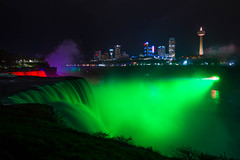 Midnight at Niagara Falls (Marc Dario) Tags: niagarafalls midnight night cityscape lights travel americanfalls newyork niagarariver