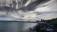 Fehmarnsundbrücke (Bolle1111) Tags: timestack lzb langzeitbelichtung experimentell experimantal himmel wasser water sky fehmarnsundbrücke