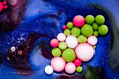Better Photography Through Chemistry - 31 (MorboKat) Tags: macro detail chemical chemistry reaction planet abstract bubble liquidart liquidsculpture liquid blue indigo green lime limegreen pink white black bright bubbles colour color colours colors colourful colorful intense round ball texture trippy swirl betterphotographythroughchemistry
