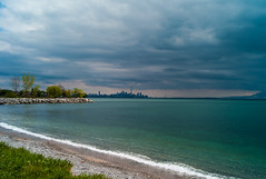 Untitled (Howard Yang Photography) Tags: toronto cityscape skyline lakeontario leicam8 zeissbiogon cloudy