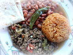 Green Chile (randyman) Tags: greenchile chileverde pintobeans spanishrice