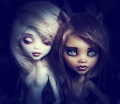 monsters (ninimoon =^x^=) Tags: monster high doll girl repeint ooak laggona blue clawdeen wolf