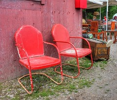 Red Seats (Paul Van Damme) Tags: red chairs aberfoyle fuji x100