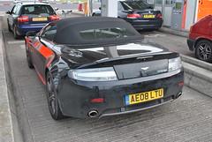 Aston Martin V8 Vantage N400 Roadster (D's Carspotting) Tags: aston martin v8 vantage n400 roadster france coquelles calais black 20120617 ae08ltu le mans 2012 lm12 lm2012