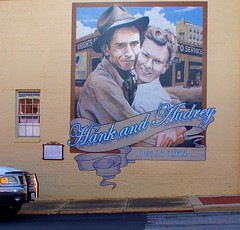 Hank and Audrey Williams Mural (StephenReed) Tags: hankandaudreywilliamsmural mural hankwilliams andalusia alabama covingtoncountyseat nikond3300 stephenreed