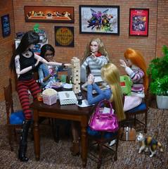 Dread (MiskatonicNick) Tags: tabletop dread jenga playscale toyville diorama dolls reese lilith shelley poppyparker erin jasper 16 sixthscale