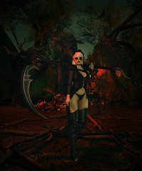 Dont fear the reaper (Kilisini) Tags: eliavah ama dark style fair memento mori totally top shelf little bones truth vista mandala catwa sl second life once upon fairytale reaper scythe goth death sweet thing arcade doll