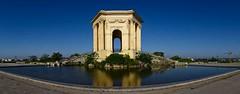 Chateau d'eau du Peyrou Montpellier (Marc ALMECIJA) Tags: montpellier architecture pano panoramique hérault urbain urban eau water reflet reflections sony rx10